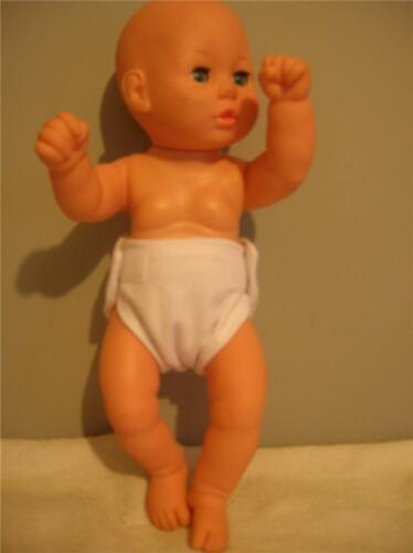 "DOLL CLOTHES BABY DOLL DIAPERS SINGLE WHITE FITS SIZE 12/"" 13/"" 14/""   DOLLS"