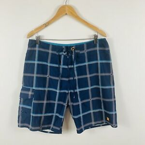 Quiksilver-Mens-Board-Shorts-Size-34-Blue-Aussie-Summer-Surfwear-Boardies