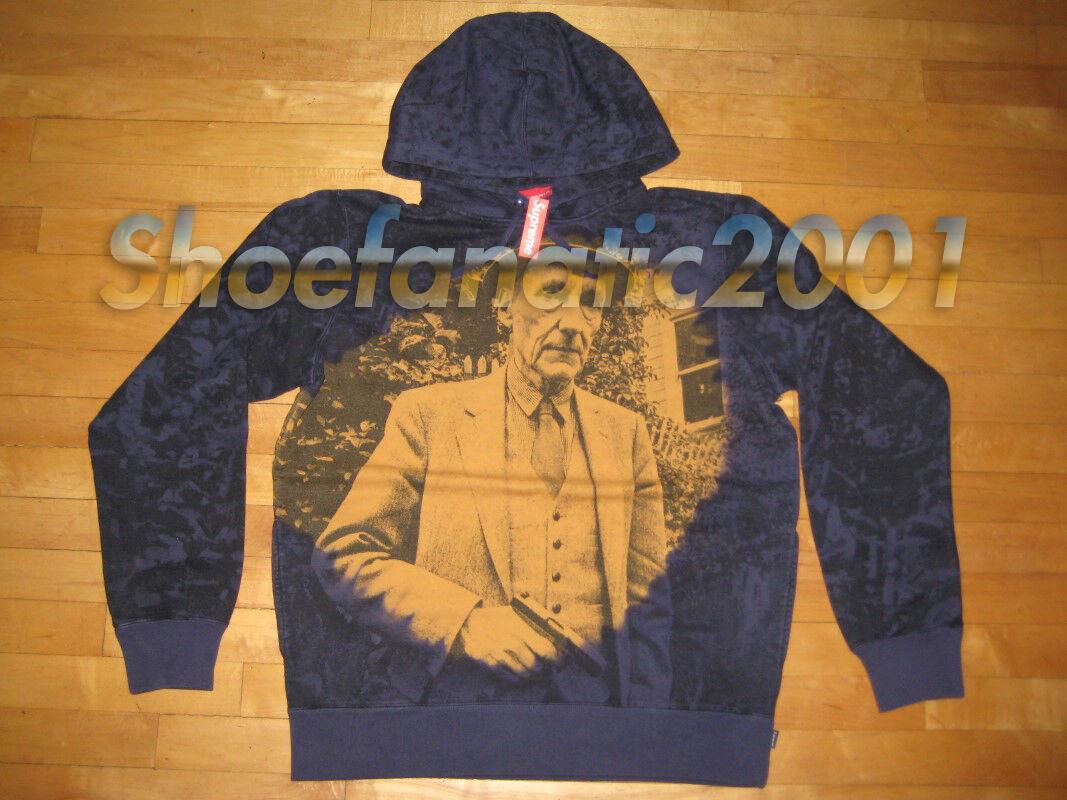 Supreme Burroughs Hooded Sweatshirt Navy Box Logo SB Hoody Gangster Dipset