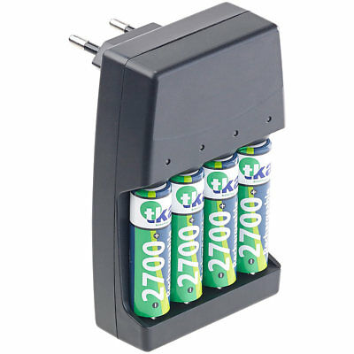 revolt Alkaline Batterie Laden: 2in1 Ladegerät für NiMH