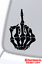 SKULL MIDDLE FINGER FLIP OFF VINYL DECAL STICKER WINDOW WALL CAR BUMPER LAPTOP