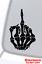 SKULL MIDDLE FINGER FLIP OFF VINYL DECAL STICKER WINDOW WALL CAR BUMPER LAPTOP