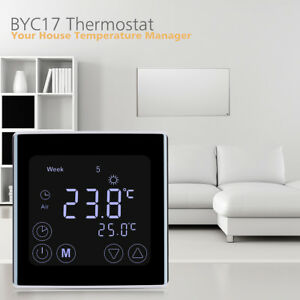 Floureon-C17-GH3-16A-85-250V-Touch-Control-LCD-Display-Programmable-Thermostat