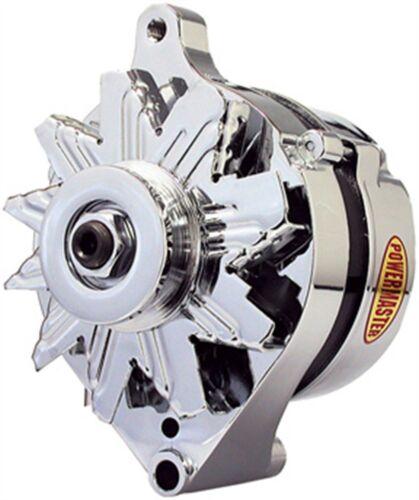 65 Amp Powermaster 17078 Chrome Alternator Ford 1G ext. regulated