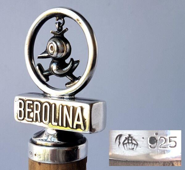 Acquista A Buon Mercato Cork/sughero Decorativo, Berolina/berlino, 925 Argento, Circa 1950 Al735 Supplemento L'Energia Vitale E Il Nutrimento Yin