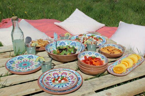 Plastic//Melamine Salad Serving Set Epicurean Rio Medallion Outdoor//BBQ//Picnic