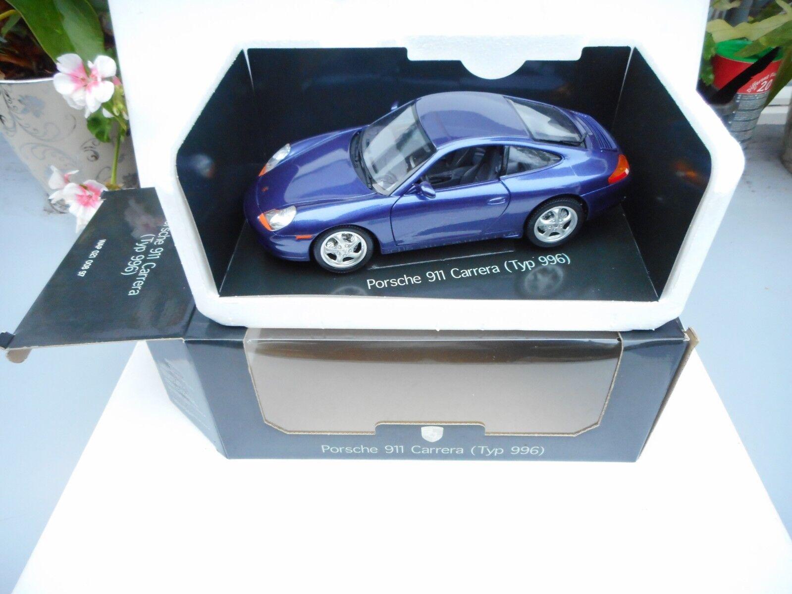 Burago Modellauto 1 18 Porsche 911 Carrera (996) CODE  WAP 021 008 97 MINT BOX