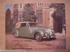 Lagonda 2 1/2 Litre Saloon & Coupe Sales Folder 1949