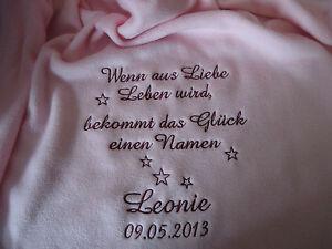 babydecke mit namen kinderdecke geburt taufe kuscheldecke schmusedecke geschenk ebay. Black Bedroom Furniture Sets. Home Design Ideas