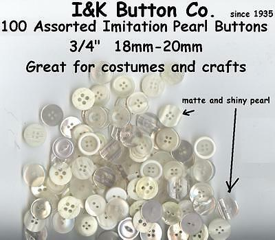 "300 new 2 hole WHITE or imitation Pearl Shirt Buttons 7//16/"" YOUR CHOICE of Style"