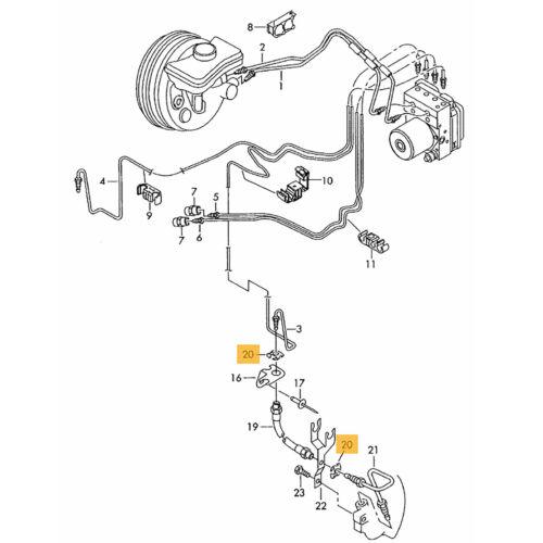 4X AUDI A1 Sportback A2 A4 B5 B6 B7 Clips Abrazaderas de Manguera Del Freno Flexi 4 D 0611715 B *