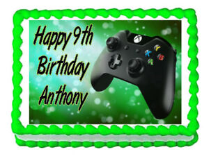 Image Is Loading Xbox Gaming Remote Controller Party Edible Cake Topper