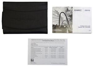 2015 gmc yukon denali xl denali owners manual book w leather case rh ebay com 2009 yukon denali xl owners manual 2009 yukon denali xl owners manual