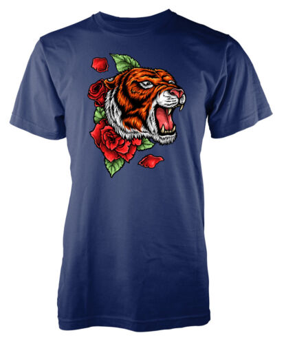 TIGER Fury Big Cat Rose Tatuaggio Stile Kids T-shirt