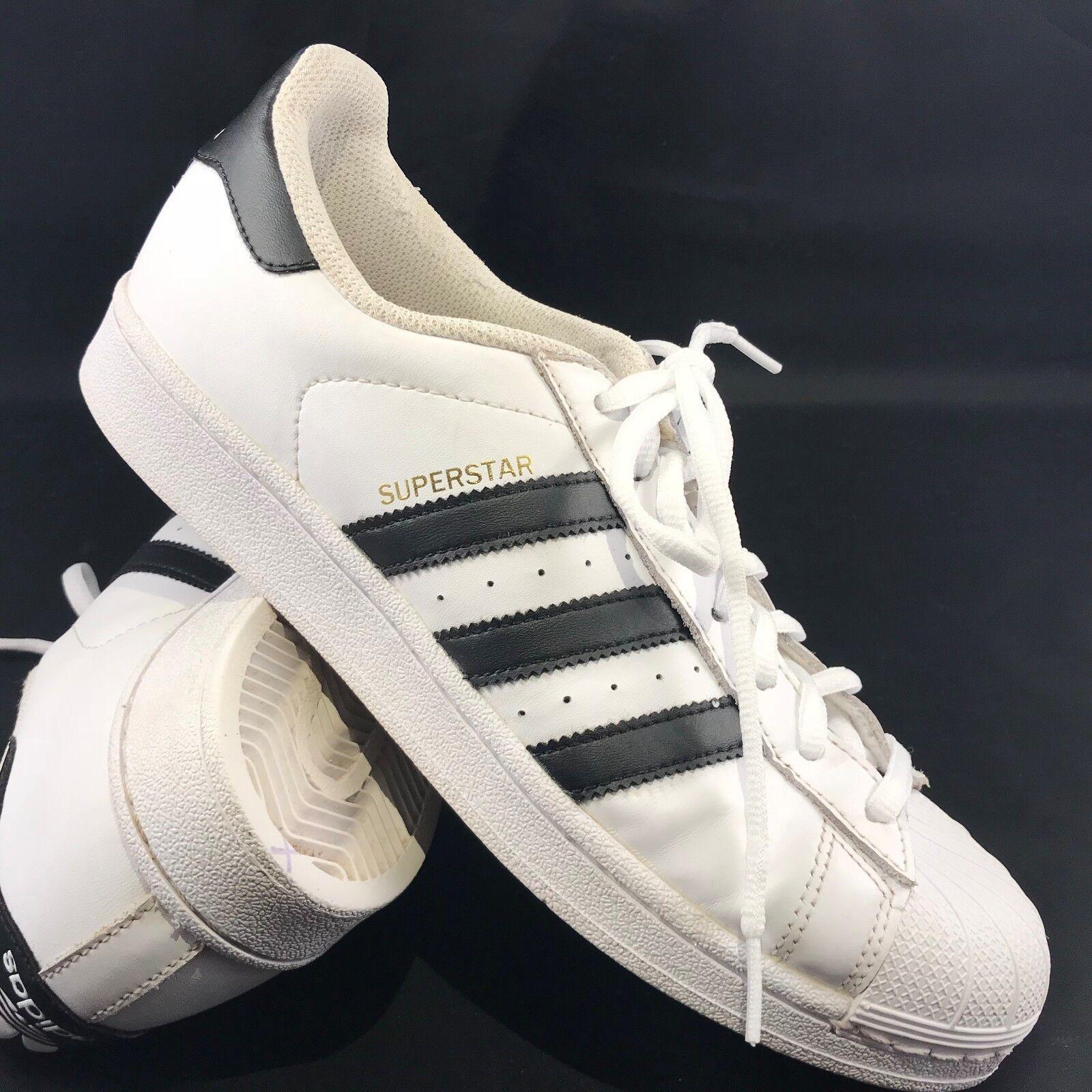 Adidas Superstar blanches noires Originaux femmes Sz 9.5, 42 Eu Superstars