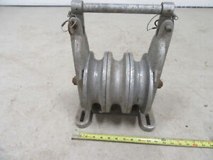 SHERMAN /& REILLY XS-100-B ALUMINIUM SNATCH STRINGING BLOCK CABLE PULLEY SHEAVE