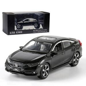 1-32-Honda-Civic-Metall-Die-Cast-Modellauto-Spielzeug-Model-Kinder-Schwarz