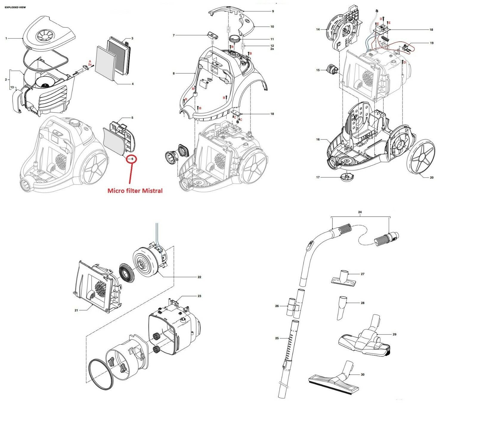 Inlet Filter Einlassfi Assy Hulk For Philips PowerPro Vacuum