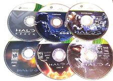 LOT OF (5) HALO 3, 4 REACH ODST MULTIPLAYER GAMES MICROSOFT XBOX 360 DISC ONLY