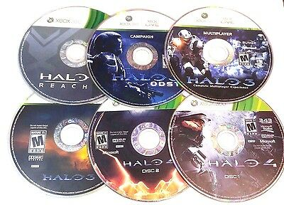 LOT OF (5) HALO 3, 4 REACH ODST MULTIPLAYER GAMES MICROSOFT XBOX 360 DISC  ONLY | eBay