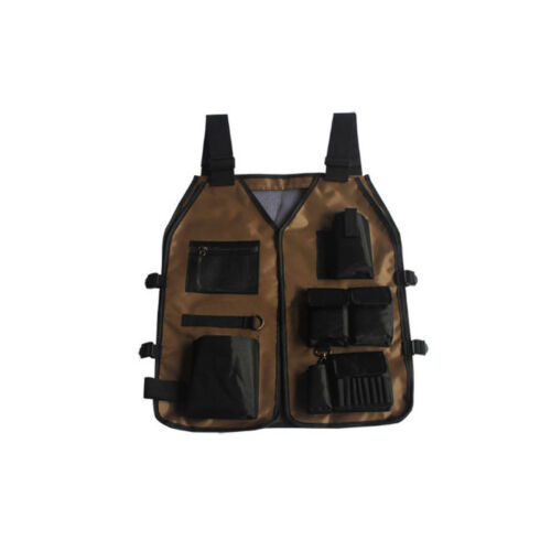 1xCompartments Organizer Apron Pockets  Tool Vest Storage Electrician Carpenter