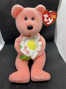 "VTG 2004 retired TY Beanie Baby Babies plush stuffed 8"" DEARLY the Bear w/ TAG"