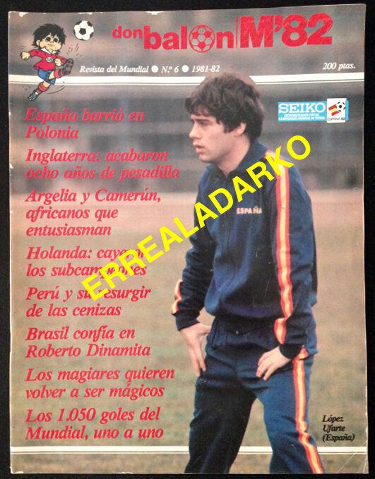 REVISTA DON BALON Nº6 FUTBOL MUNDIAL 82 ESPAÑA 1982