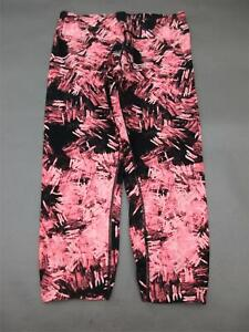 MARC-NEW-YORK-SIZE-M-WOMENS-PINK-BLACK-ATHLETIC-FITNESS-GYM-CROPPED-LEGGINGS-045
