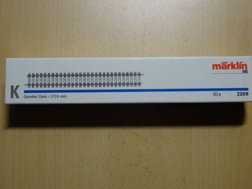 Märklin HO type 2209 K-Voie précisément ORG Pack avec 10 Pièces longueur 21,8 cm NOUVEAU//Neuf dans sa boîte