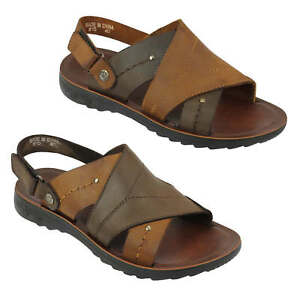 Mens Real Genuine Leather Sandals Walking Mules Slip On Shoes Size 6 7 8 10 11 Durchsichtig In Sicht