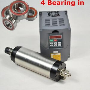 FOUR-BEARING-ER20-2-2KW-WATER-COOLED-MOTOR-SPINDLE-AND-DRIVE-INVERTER-VFD-CNC