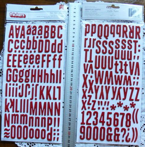 DOLL Glitter /& Foam 186 Alphabet Thicker Stickers 5-17 Wide22-32mmHigh Choice L3