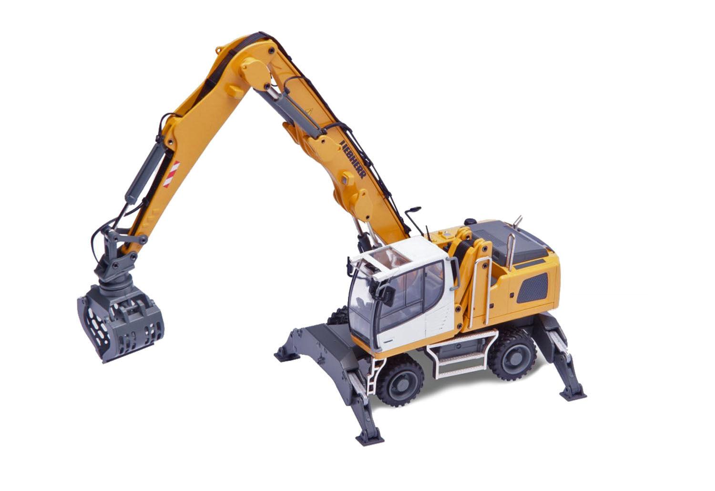 Conrad 2947 Liebherr LH24 Material Handler w Concrete Shears - giallo 1 50 MIB