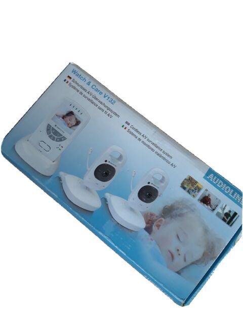 Audioline 902759 Video Babyfon Babyphone mit zwei Kameras Nachtlicht DEFEKT