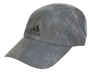 uk availability b3406 9180d Image is loading Adidas-Reflective-Caps-Running-Hat-Golf-Adjustable-Gray-