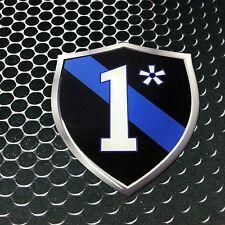 "Thin Blue Line 1* Police 1 ASS TO RISK Domed Decal Emblem Car Sticker 3D 2.3x 3"""