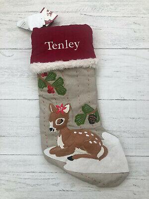 Nwt Pottery Barn Kids Christmas Stocking Woodland Baby