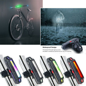 USB-Rechargeable-LED-velo-MTB-Avant-Arriere-Feu-arriere-Lampe-Attention-Lamp-FR
