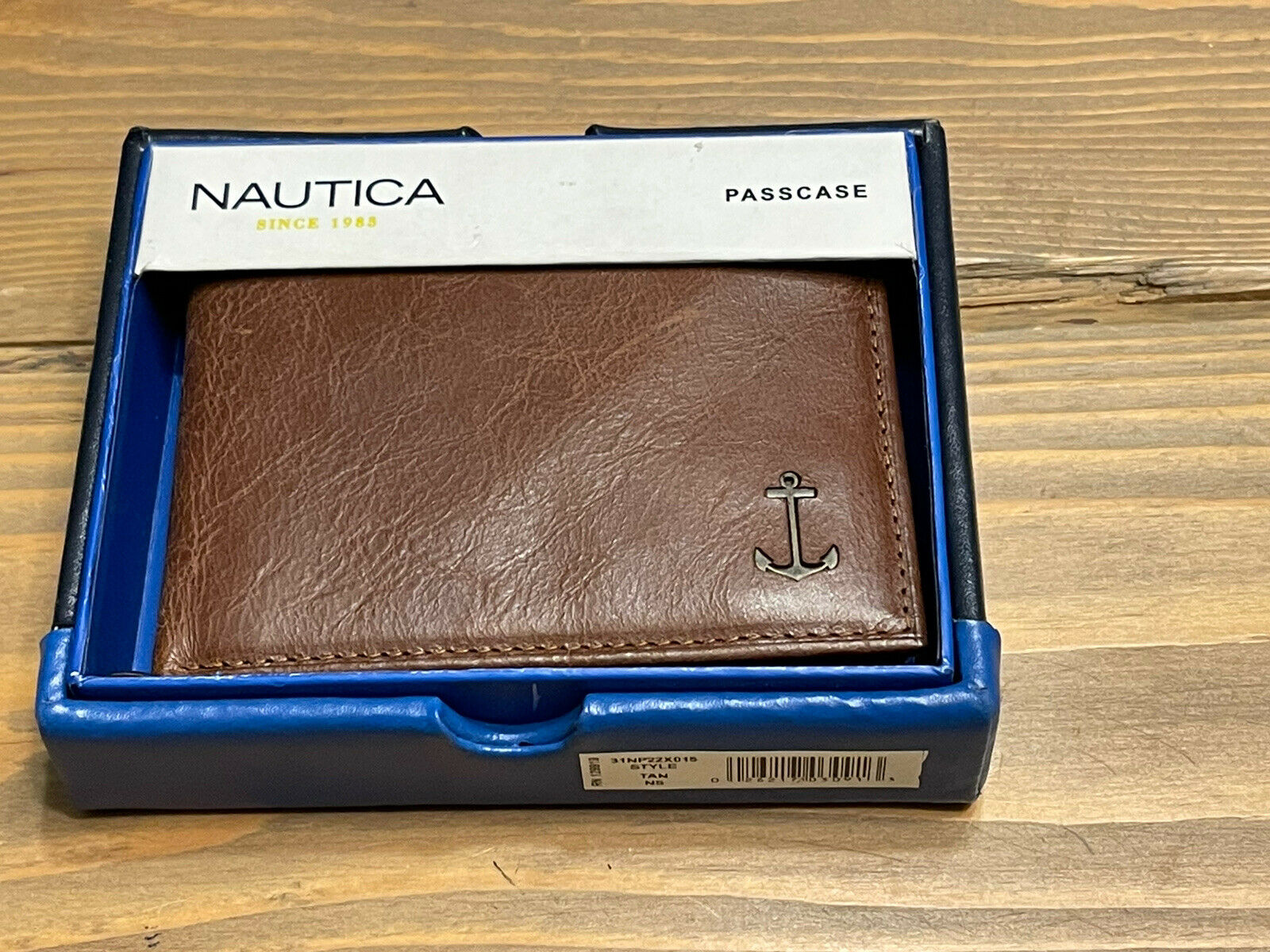 Nautica Men's Bifold Genuine Leather Credit Card ID Passcase Wallet 31NP22X015