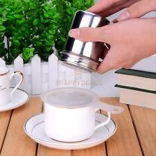 Stainless Chocolate Shaker Flour Powder Icing Sugar Coffee Sifter with Lid New
