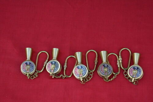 Vintage brass telegraph key chain key ring collectible gift item lot of 5 pieces