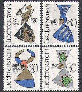 Liechtenstein-1966-Coat-of-Arms-Heraldry-Griffin-Mythical-Animals-4v-set-n37734
