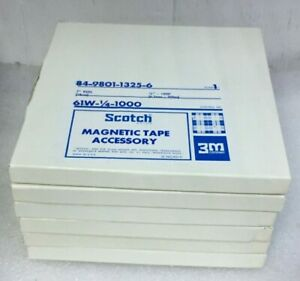 Lot-6-Scotch-7-034-Reel-84-9801-1325-6-Magnetic-Tape-Accessory