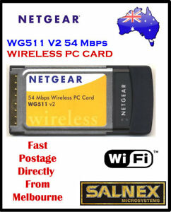 NETGEAR 54 MBPS WIRELESS PC CARD WG511V2 DRIVER WINDOWS