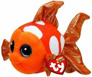 Ty-Beanie-Boos-Kids-Toys-Sami-the-Orange-Fish-Animal-Stuff-Child-Gift-Item-AA