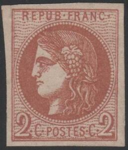 FRANCE-STAMP-TIMBRE-N-40-B-034-CERES-BORDEAUX-2c-BRUN-ROUGE-034-NEUF-x-TTB-J785
