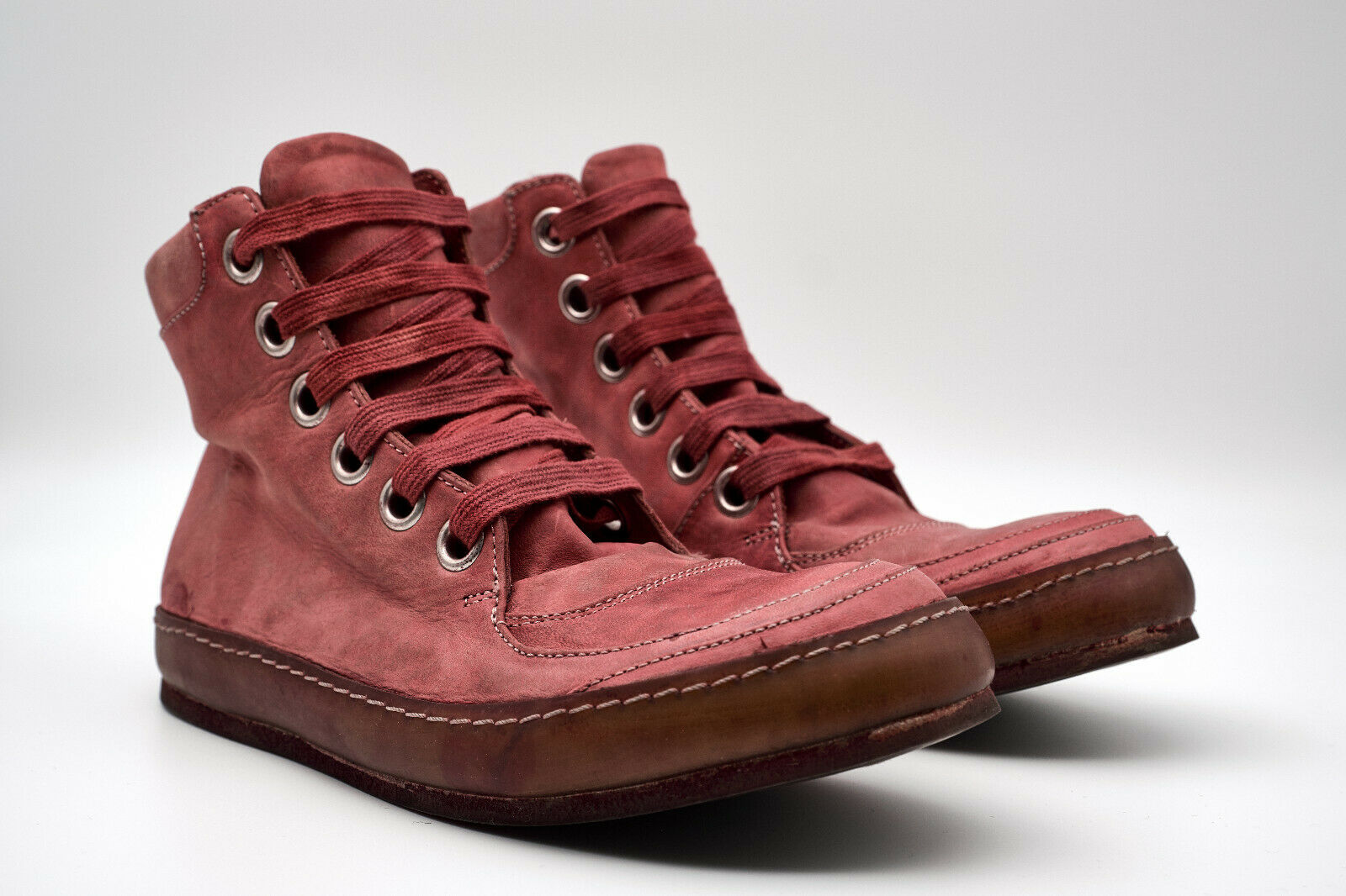 A1923 A DICIANNOVEVENTITRE WOMEN'S WASHED HORSE LEATHER RED SNEAKERS 36,37,1815