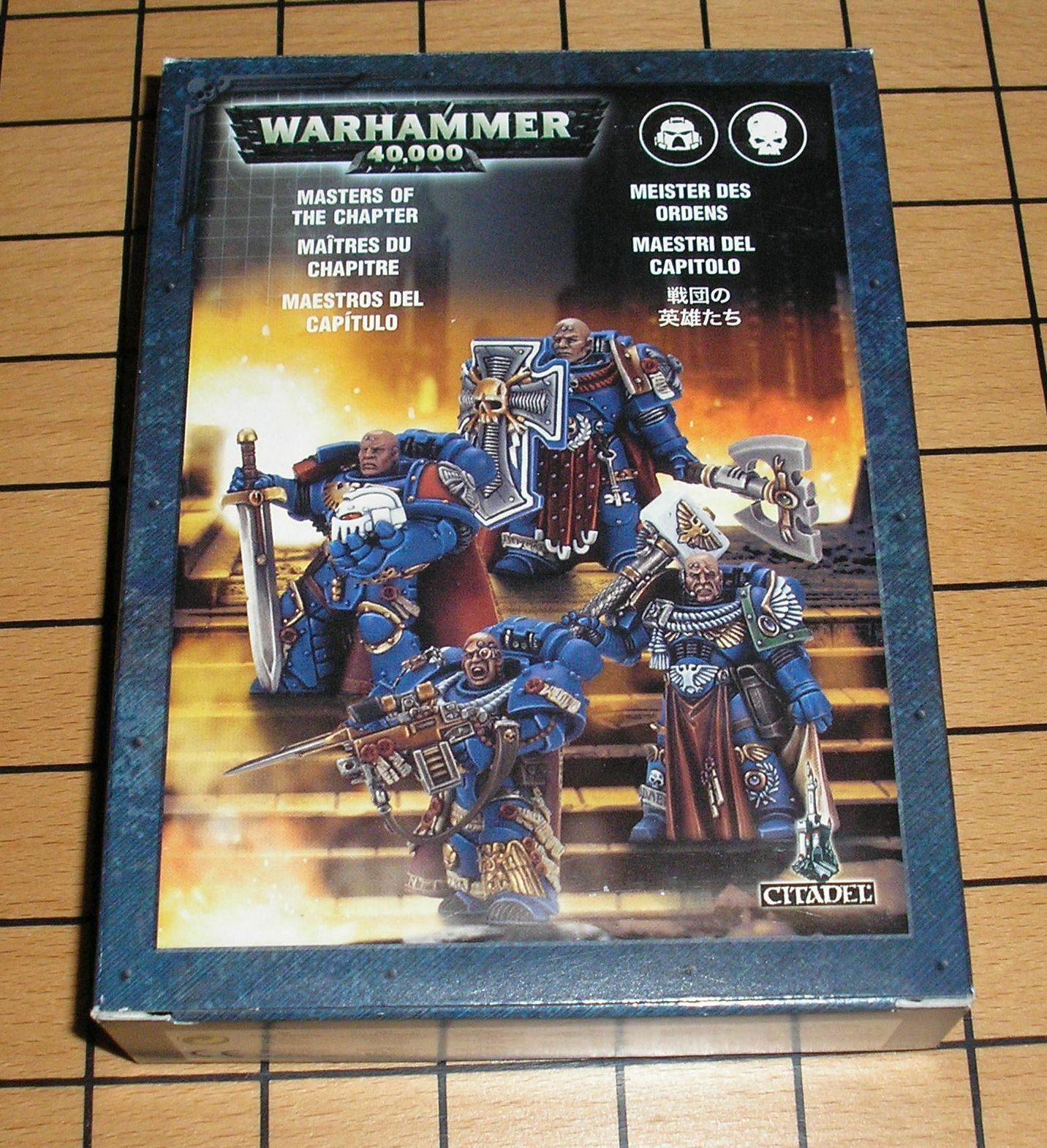 40k Rare oop Vintage Metal Space Marine Masters of the Chapter Box Set