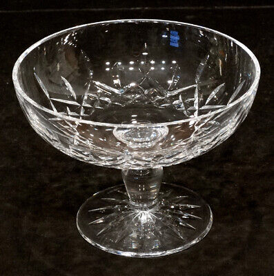 24 Percent Lead Diamond Pattern Cut Crystal Waterford Footed Compote Bowl