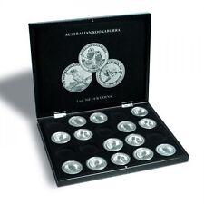 Münzkassette für 20 Kookaburra Silberunzen in Kapseln, schwarz